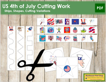 US 4th of July Cutting Strips