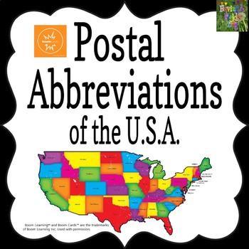 US Abbreviations Boom Cards
