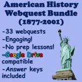 American History Webquest Bundle (1877-2001)