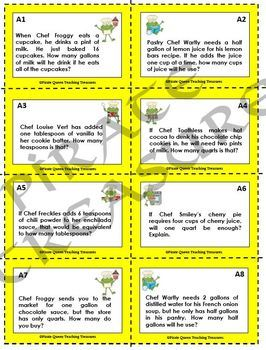 US Capacity Measurement Task Cards/ CCSS Aligned 4th-5th Grades