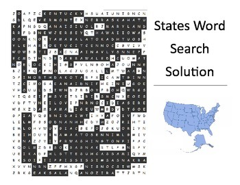 U.S. Capitals & States Word Search (2 puzzles)