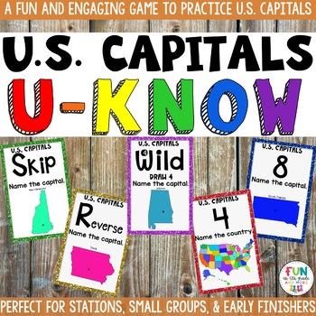 US Capital Cities Game: U-Know