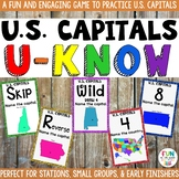 US Capital Cities Game: U-Know