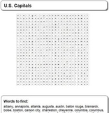 U.S. Capitals - Word Search