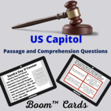 US Capitol Boom™ Cards passage and comprehension questions