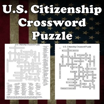 US Citizenship Crossword