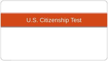 U.S. Citizneship Test for students