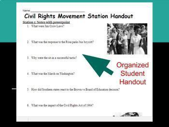 Civil Rights Movement - 6 Stations Lesson
