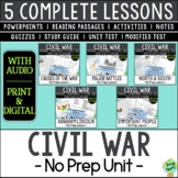 US Civil War Bundle; American Civil War; Distance Learning