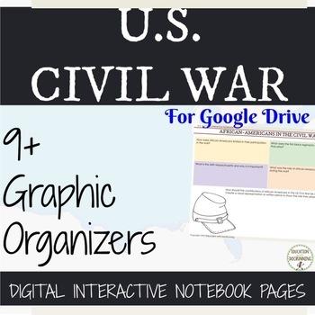 US Civil War Digital Interactive Notebook 10% OFF IN APRIL
