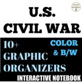 Civil War Color Interactive Notebook Graphic Organizers fo