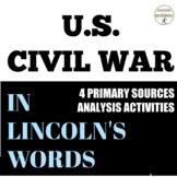 Civil War Primary Source Analysis Lincoln Gettysburg Addre