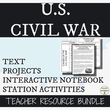 Civil War Bundle 12+ Activities and Projects + INB pages f