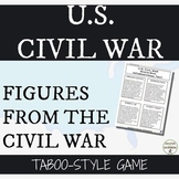 Civil War People of the Civil War Inquiry activity and game