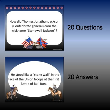US Civil War Warm Ups (Bellringers)