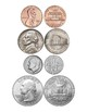 US Coins Sheets: Quarter, nickel, dime, penny