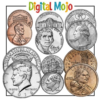 us coin clipart money clipart by digital mojo teachers pay teachers rh teacherspayteachers com Money Clip Art Printable American Money
