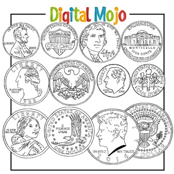 US Coin Clipart Money Clipart