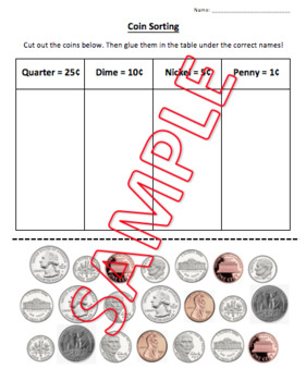 US Coin Identification Worksheets