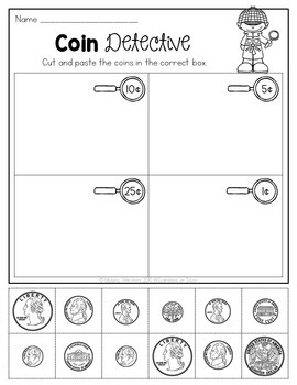 Coin Math Printables and Activities