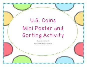 US Coin Mini Poster and Sorting Activity