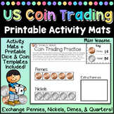 US Coin Trading Mats, Exchange Pennies for Nickels & Dimes