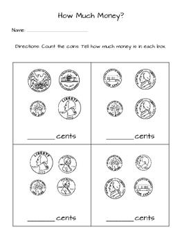 US Coin Worksheet Freebie