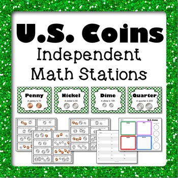 Money US Coins Math Stations