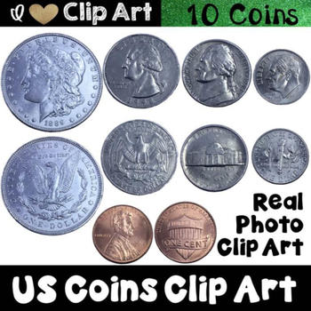 us coins clip art by i heart clip art teachers pay teachers rh teacherspayteachers com Printable American Money Printable American Money