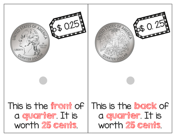 US Coins Adapted Book - Lets Go Shopping!