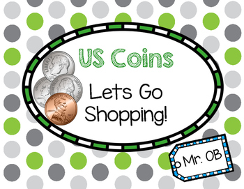 US Coins Interactive Book - Lets Go Shopping!