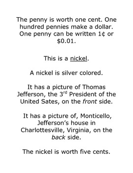 US Coins: Text