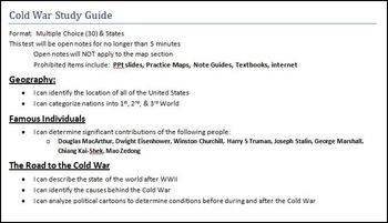 U.S. History Cold War Test