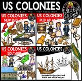US Colonies Clip Art Bundle {Educlips Clipart}