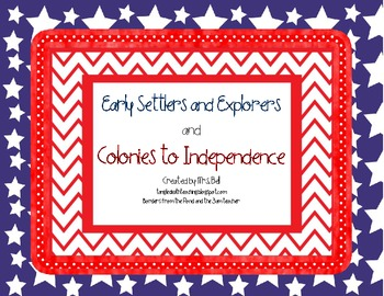 U.S. Colonies to Independence Activity Pack ( Boston Tea P