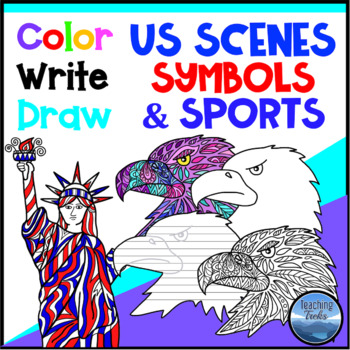 United States Symbols and Scenes: American Symbols Coloring Pages