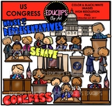 US Congress Clip Art Bundle {Educlips Clipart}