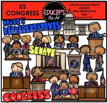 US Congress Clip Art Bundle {Educlips Clipart}