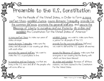 U.S. Constitution- A Common Core-Aligned Reading and Social Studies Unit