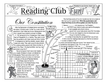 Constitution Day Two-Page Activity Set