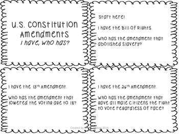 US Constitution Amendments Practice Pack