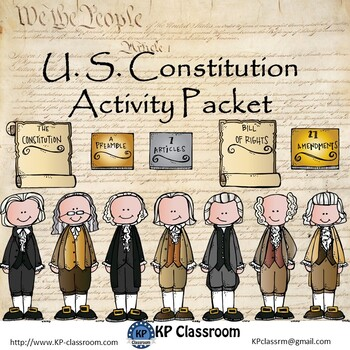 US Constitution History and Literacy Activity Packet