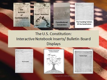 US Constitution: Interactive Notebook & Activities, with B