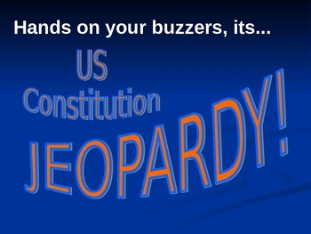 US Constitution Jeopardy