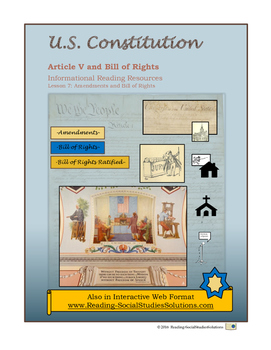 Constitution - Lesson 7 - Article V - Amendments-Bill of Rights
