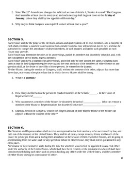 U.S. Constitution Packet