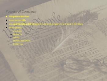 U.S. Constitution PowerPoint