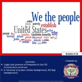 US Constitution Preamble Poster