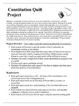 U.S. Constitution Quilt Project