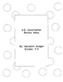 U.S. Constitution Review Menu